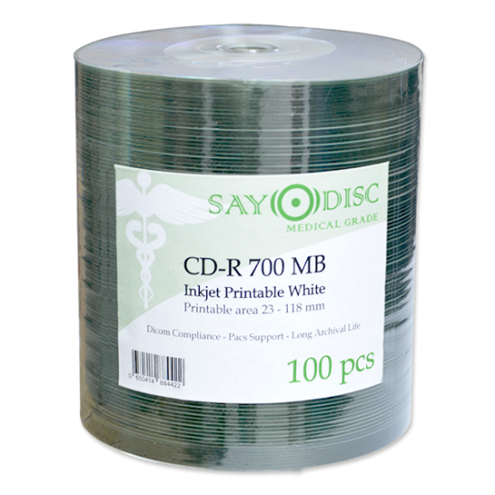 SAYO DISC MEDICAL GRADE, inkjet printable medical cd-r, DICOM compliant