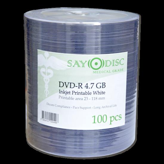 SAYO DISC MEDICAL GRADE, inkjet printable medical dvd-r, DICOM compliant