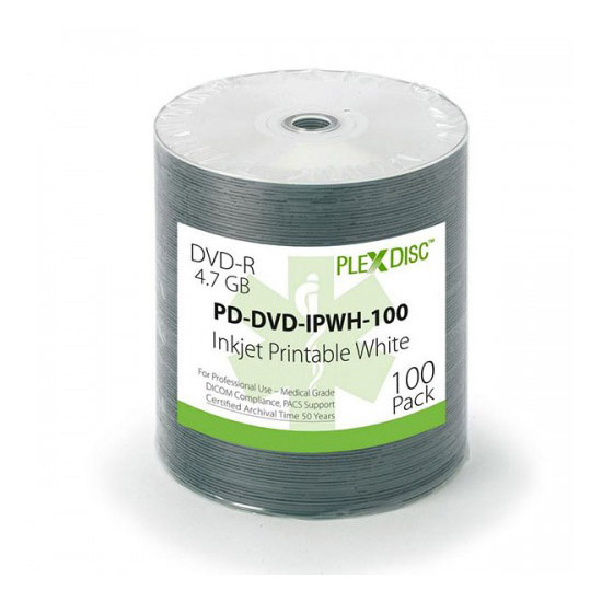 PLEXDISC medical Dvd 4,7 Gb inkjet printable - DICOM