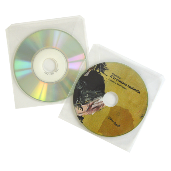 Transparent sleeve for mini cd / dvd