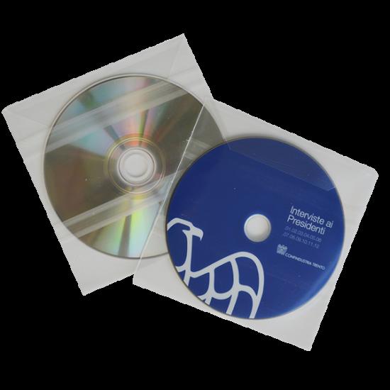 Transparent sleeve for cd / dvd