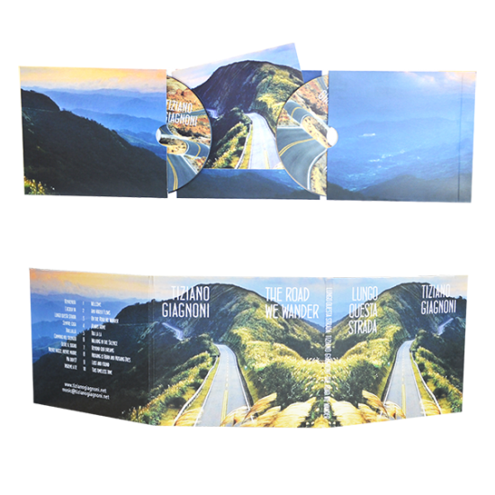 Digifile 6 panels with 2 pockets for cd & cut for booklet