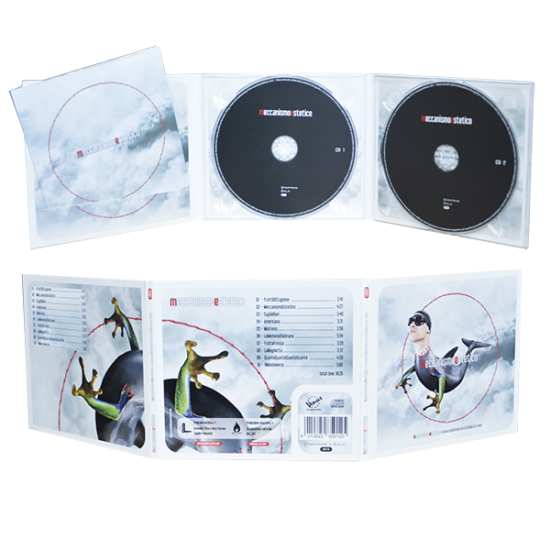 Digipack 6 panels with 2 tray & cut for booklet