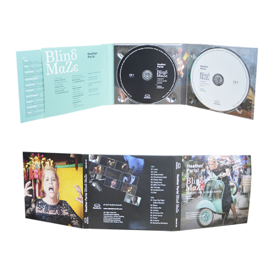 Digipack 6 panels with 2 tray & pocket for booklet