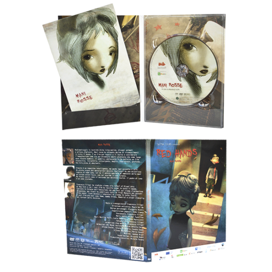 Dvd-pack 4 panels with 1 tray and cut for booklet