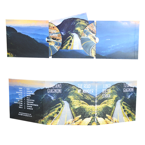 digifile 6 panels with 2 pockets for 2 cds and cut for booklet