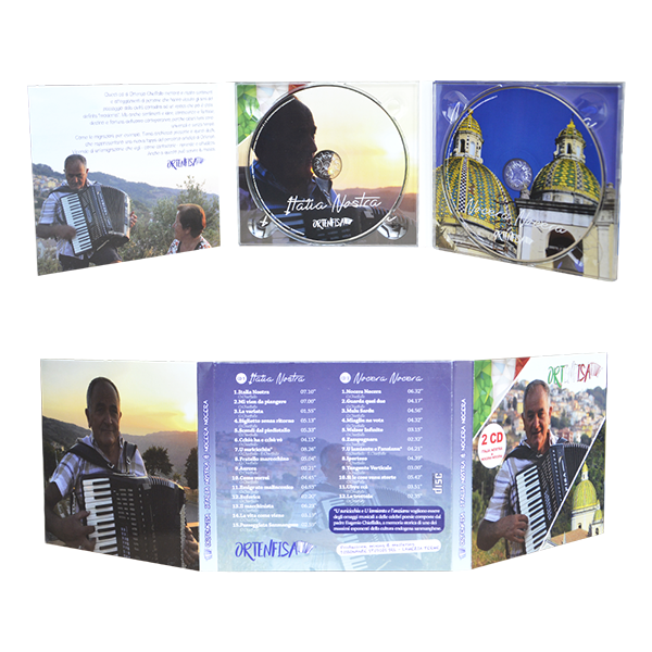 digipack 6 panels with 2 trays